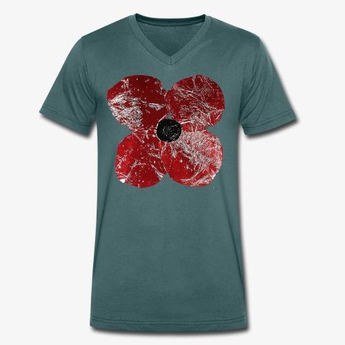 Klatschmohn 1 - Männer Bio-T-Shirt mit V-Ausschnitt von Stanley & Stella