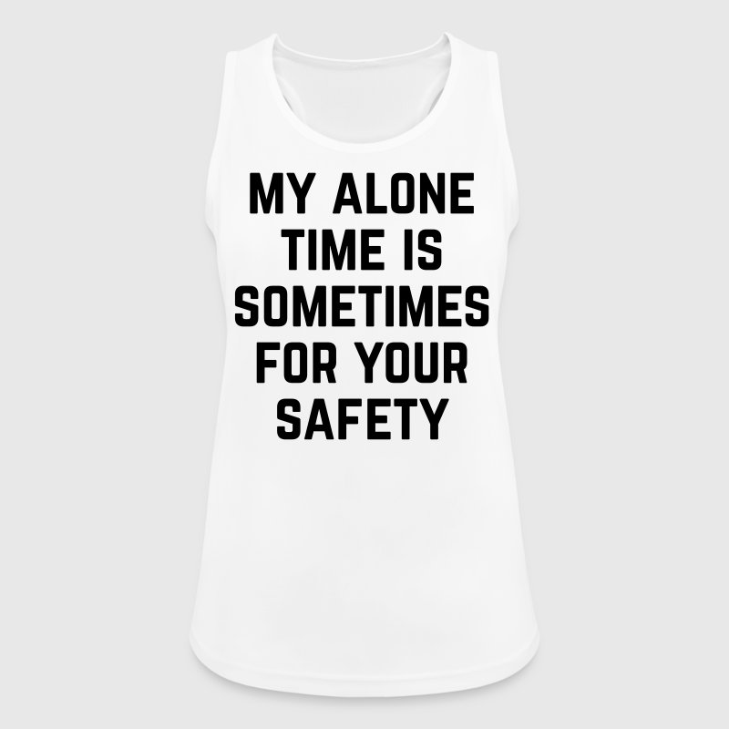 Alone Time Funny Quote Sports wear - Women's Breathable Tank Top