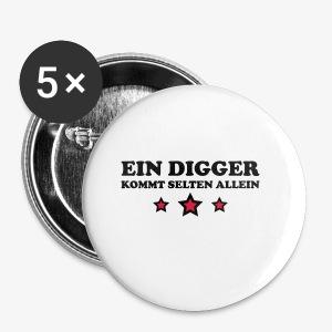 Ein Digger kommt selten allein Kult Mütze Beanie - Buttons klein 25 mm