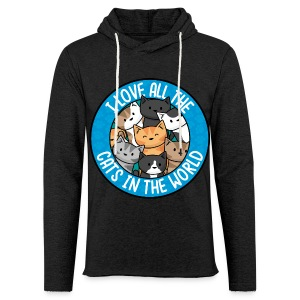 I love all the cats in the world - Men's/Unisex tee - Light Unisex Sweatshirt Hoodie