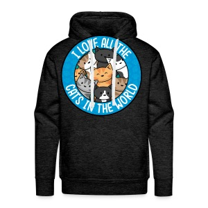 I love all the cats in the world - Men's/Unisex tee - Men's Premium Hoodie