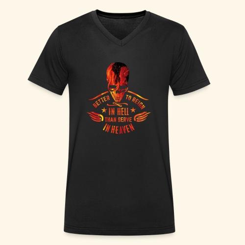 Reign in Hell T-Shirts - Männer Bio-T-Shirt mit V-Ausschnitt von Stanley & Stella