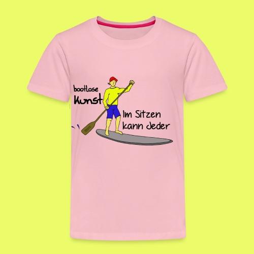 Im Sitzen kann jeder - Pink - Kinder Premium T-Shirt
