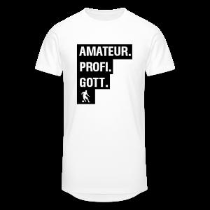 Amateur Profi Gott Fussball Shirt - Männer Urban Longshirt
