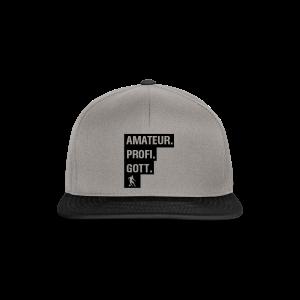 Amateur Profi Gott Fussball Shirt - Snapback Cap