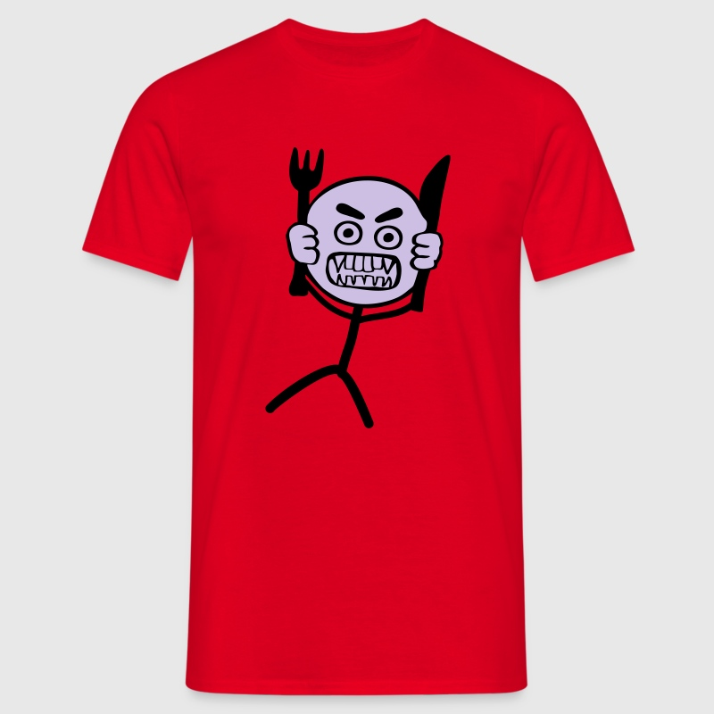 Hangry Stickman - 2 colors Tabliers - T-shirt Homme