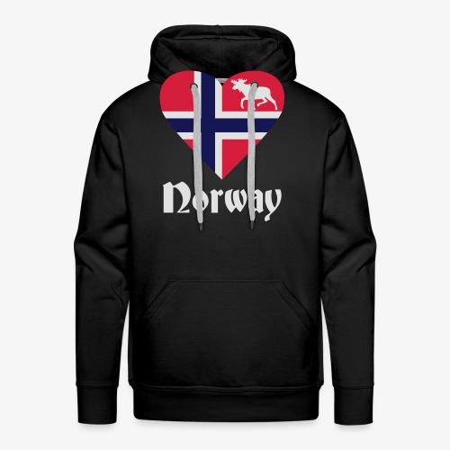 Norwegen Elch Herz T-Shirts - Männer Premium Hoodie