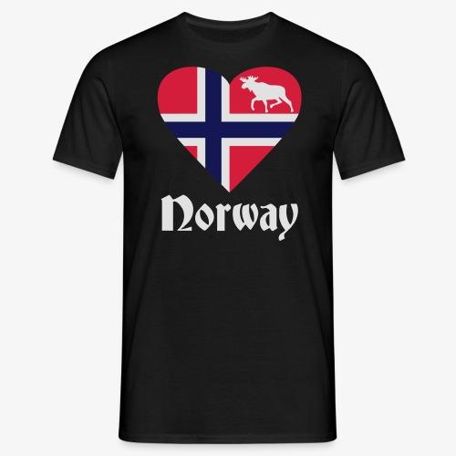 Norwegen Elch Herz T-Shirts - Männer T-Shirt
