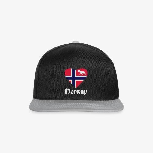 Norwegen Elch Herz T-Shirts - Snapback Cap