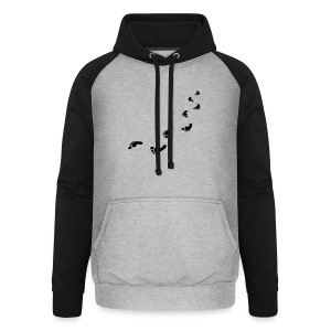 Foot prints bag - Unisex Baseball Hoodie
