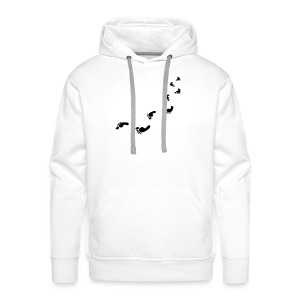 Foot prints bag - Men's Premium Hoodie