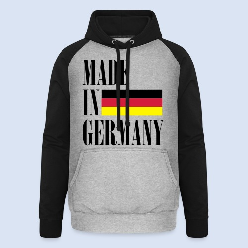 MADE IN GERMANY - Deutschland - Unisex Baseball Hoodie