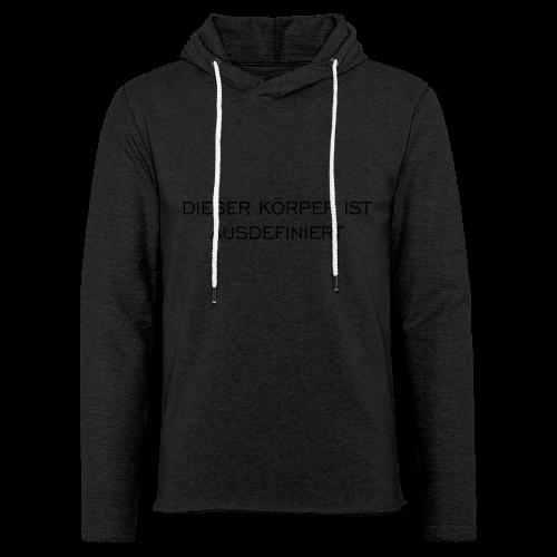 Ausdefiniert T-Shirt - Leichtes Kapuzensweatshirt Unisex
