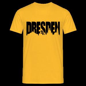 Dresden Skylineschatten Shirt - Männer T-Shirt
