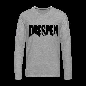 Dresden Skylineschatten Shirt - Männer Premium Langarmshirt