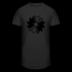 Kreissägenblatt Shirt - Männer Urban Longshirt