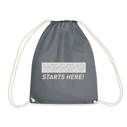 WINNING STARTS HERE –  running women's gym t-shirt - Drawstring Bag