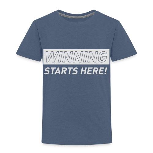 WINNING STARTS HERE –  running women's gym t-shirt - Kids' Premium T-Shirt