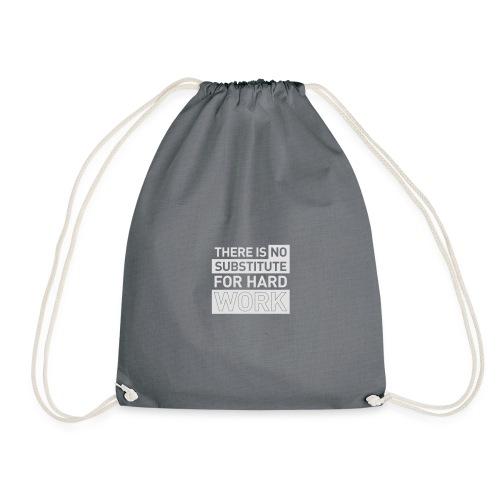 NO SUBSTITUTE –  running men's gym t-shirt - Drawstring Bag