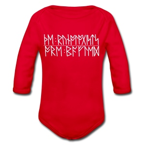 Baffled runologists women's red - Longsleeve Baby Bodysuit