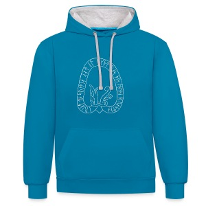 Sweden runestone women's blue - Contrast Colour Hoodie