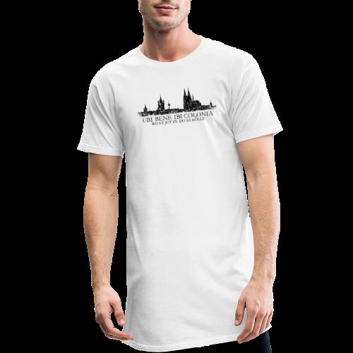 UBI BENE DO ES KÖLLE Skyline (Vintage Schwarz) Köln Römisch - Männer Urban Longshirt