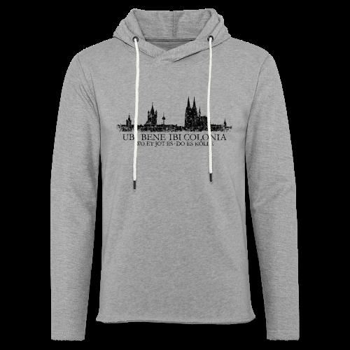 UBI BENE DO ES KÖLLE Skyline (Vintage Schwarz) Köln Römisch - Leichtes Kapuzensweatshirt Unisex
