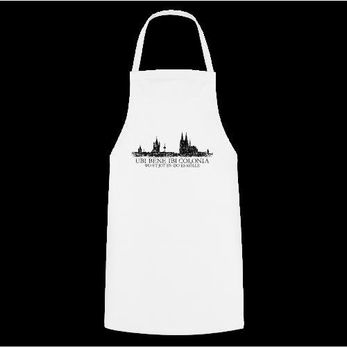 UBI BENE DO ES KÖLLE Skyline (Vintage Schwarz) Köln Römisch - Kochschürze