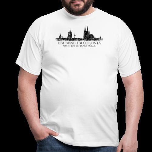 UBI BENE DO ES KÖLLE Skyline (Vintage Schwarz) Köln Römisch - Männer T-Shirt