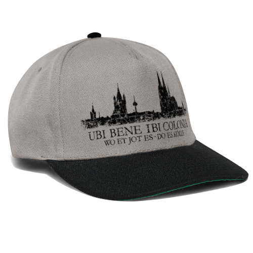 UBI BENE DO ES KÖLLE Skyline (Vintage Schwarz) Köln Römisch - Snapback Cap
