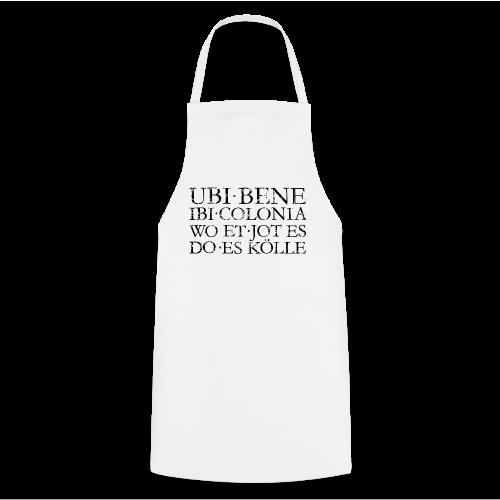UBI BENE DO ES KÖLLE (Vintage Schwarz) Köln Spruch Römisch - Kochschürze