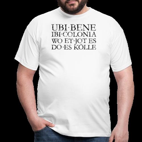 UBI BENE DO ES KÖLLE (Vintage Schwarz) Köln Spruch Römisch - Männer T-Shirt