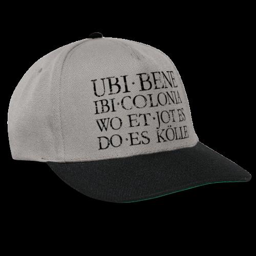 UBI BENE DO ES KÖLLE (Vintage Schwarz) Köln Spruch Römisch - Snapback Cap