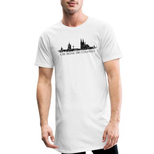 UBI BENE IBI COLONIA Skyline (Vintage Schwarz) Köln Römisch - Männer Urban Longshirt