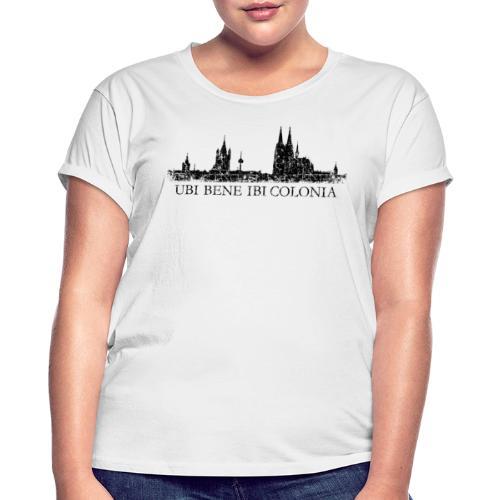 UBI BENE IBI COLONIA Skyline (Vintage Schwarz) Köln Römisch - Frauen Oversize T-Shirt