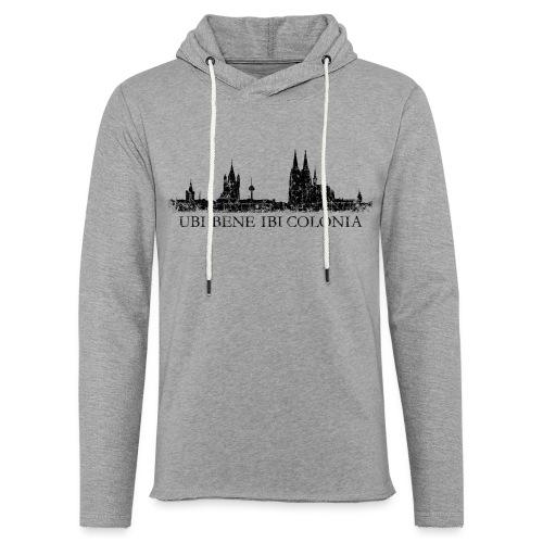 UBI BENE IBI COLONIA Skyline (Vintage Schwarz) Köln Römisch - Leichtes Kapuzensweatshirt Unisex