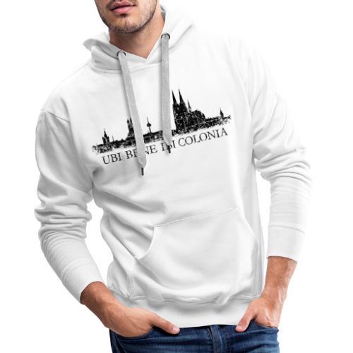UBI BENE IBI COLONIA Skyline (Vintage Schwarz) Köln Römisch - Männer Premium Hoodie