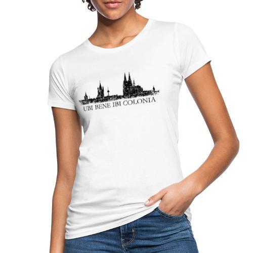 UBI BENE IBI COLONIA Skyline (Vintage Schwarz) Köln Römisch - Frauen Bio-T-Shirt