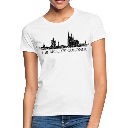 UBI BENE IBI COLONIA Skyline (Vintage Schwarz) Köln Römisch - Frauen T-Shirt