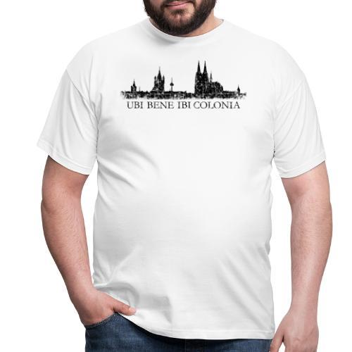 UBI BENE IBI COLONIA Skyline (Vintage Schwarz) Köln Römisch - Männer T-Shirt