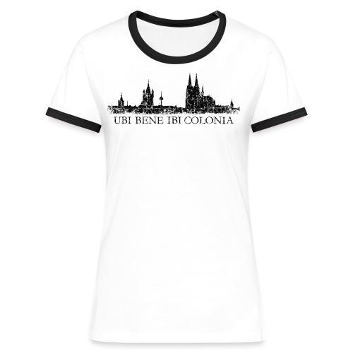 UBI BENE IBI COLONIA Skyline (Vintage Schwarz) Köln Römisch - Frauen Kontrast-T-Shirt