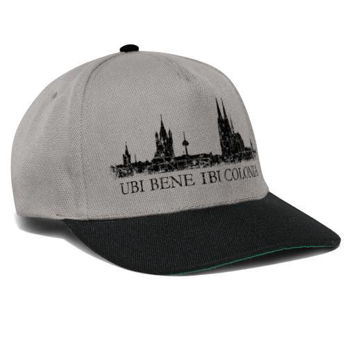UBI BENE IBI COLONIA Skyline (Vintage Schwarz) Köln Römisch - Snapback Cap