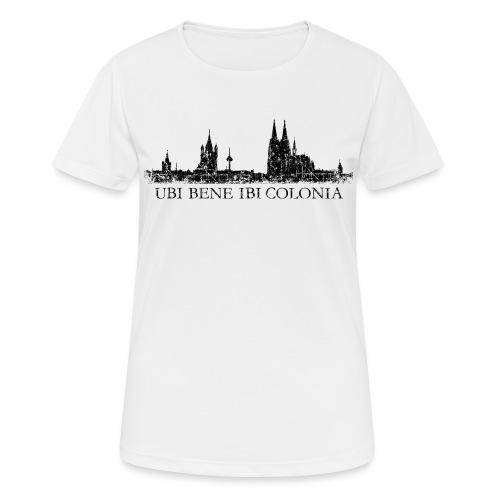UBI BENE IBI COLONIA Skyline (Vintage Schwarz) Köln Römisch - Frauen T-Shirt atmungsaktiv