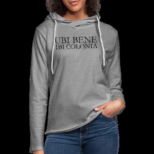 UBI BENE IBI COLONIA (Vintage Schwarz) Köln Spruch Römisch - Leichtes Kapuzensweatshirt Unisex