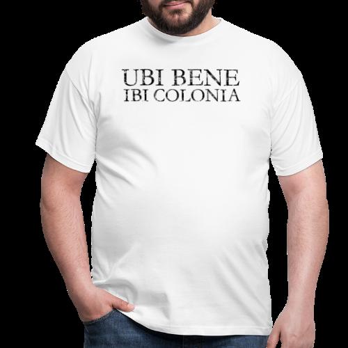 UBI BENE IBI COLONIA (Vintage Schwarz) Köln Spruch Römisch - Männer T-Shirt