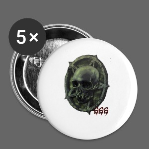 666 Skull - Buttons/Badges lille, 25 mm