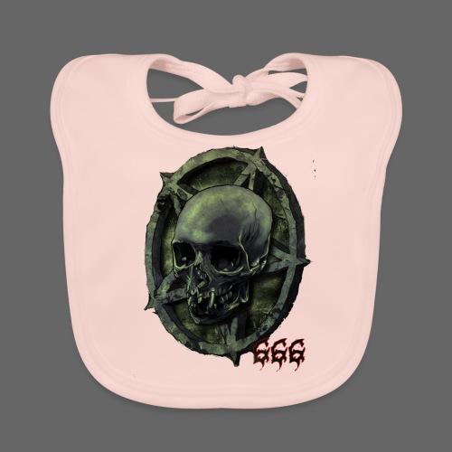 666 Skull - Baby økologisk hagesmæk
