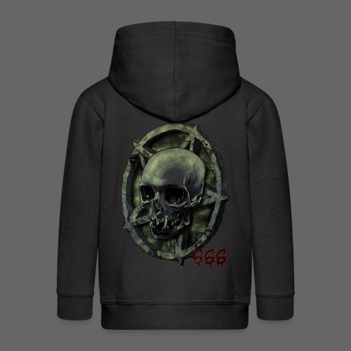 666 Skull - Premium hættejakke til børn