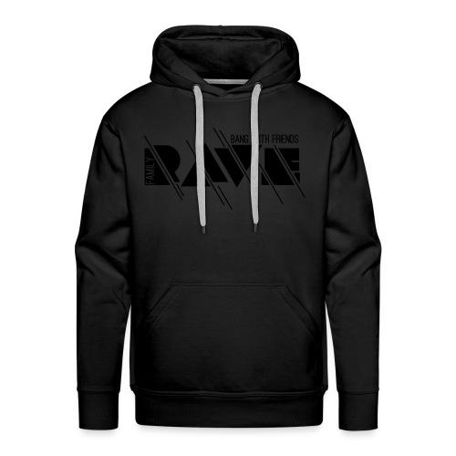 Kapuzenpullover Unisex // RAVE (Logo weiß) - Männer Premium Hoodie