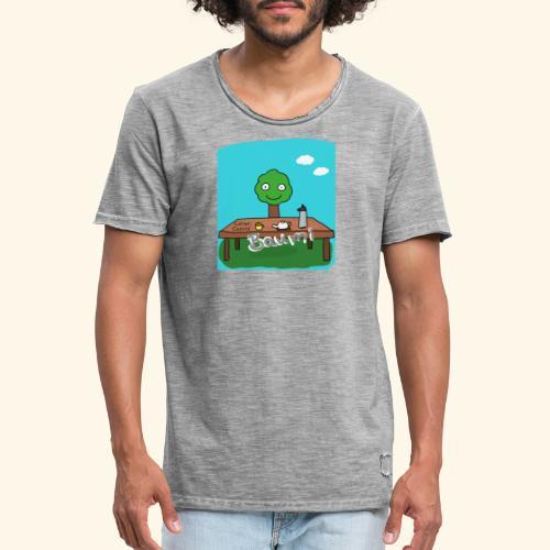Baumi Tee  - Männer Vintage T-Shirt